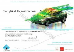 SolidWorks_Simulation Certificate